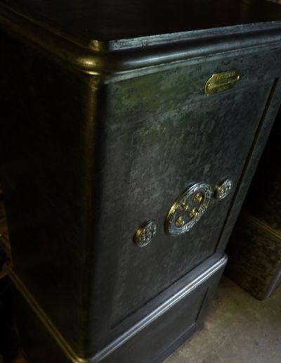 Coffre fort ancien Petitjean tout métal restauré