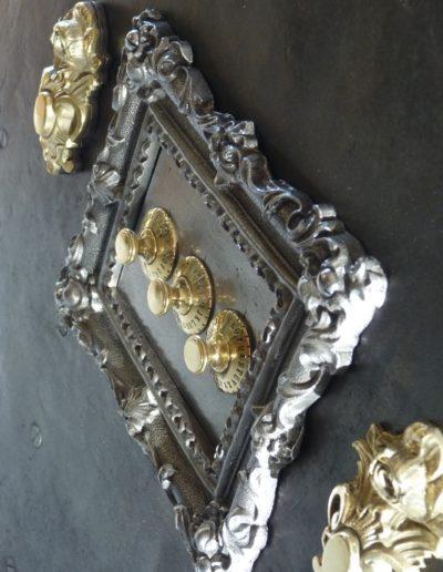 Coffre fort métal et bois 1860 restauré