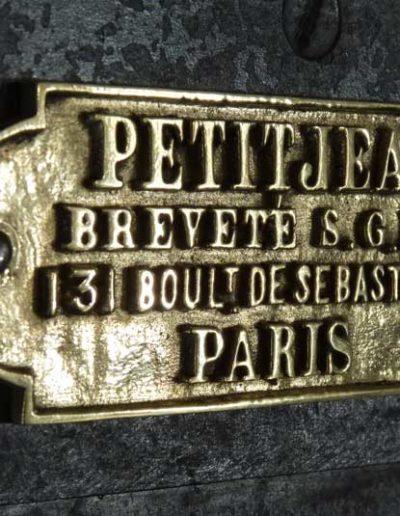 Coffre fort Petitjean 1870 restauré